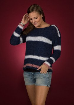 Sweater med striber i Mayflower